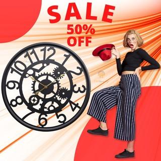 [HOT 2021] Đồng hồ treo tường Black Gear Đẹp Độc Nghệ Thuật - BH 12 tháng - F20Beauty - Phong cách hiện đại