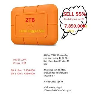 SELL 50% hãng Ổ Cứng Di Động SSD Rugged 2TB của Lacie - CHÍNH HÃNG - 2 NĂM BẢO HÀNH - SHIP HCM VÀ LIÊN TỈNH ĐÃ OK thumbnail