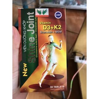 Viên Dưỡng Khớp Shine Joint gồm vitamin D3+K2 và Bromelain+MSM giúp tăng cường mô sụn khớp, giảm thoái hoá khớp