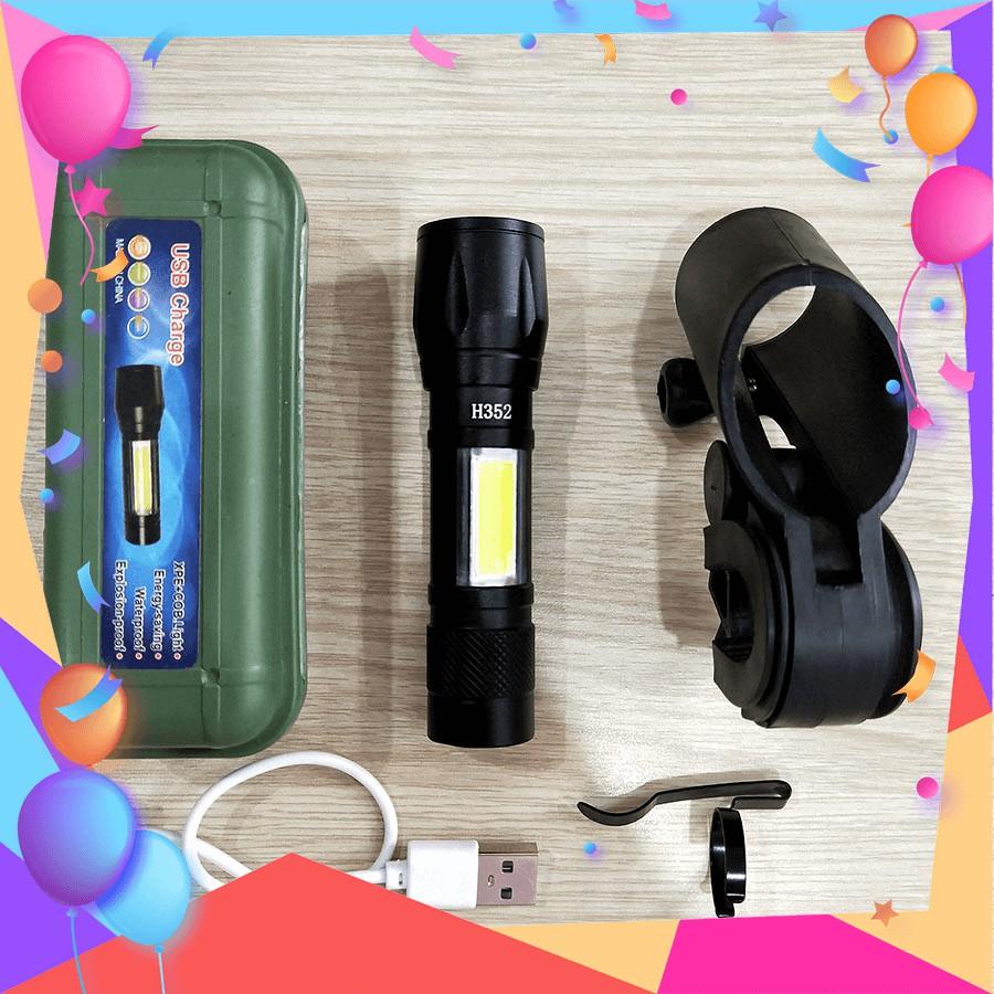 Đèn pin siêu sáng led mini sạc USB H352 nhỏ gọn - Phụ kiện chụp hình khác