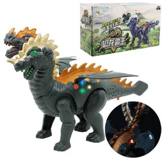 YOUN* Two Head Electric Light Sound Dinosaur Toys Boy Toy Gift Jurassic