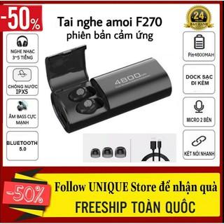 Tai Nghe Không Dây Bluetooth Amoi F270 Bản Cảm Ứng Bluetooth 5.0 cho Android/Ios/Samsung/Oppo/Iphone