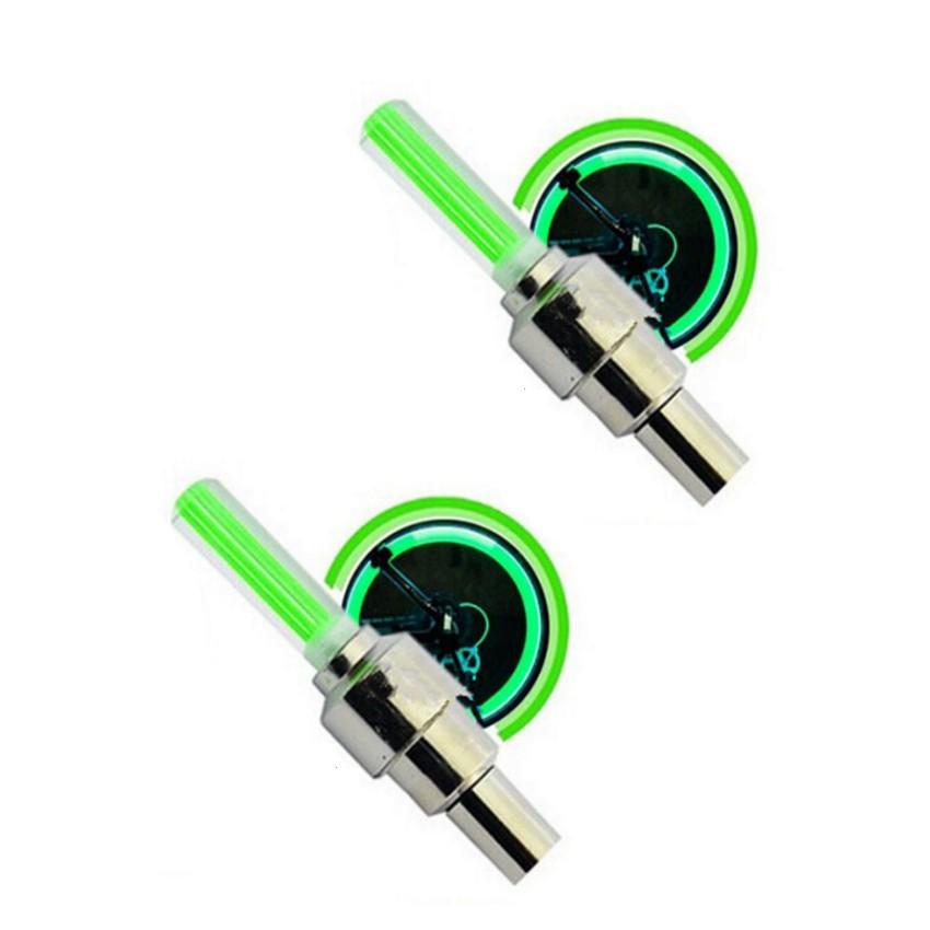 Bộ 2 Đèn LED gắn van đổi màu cho bánh xe máy ô tô TL 131-2B(Xanh lá)