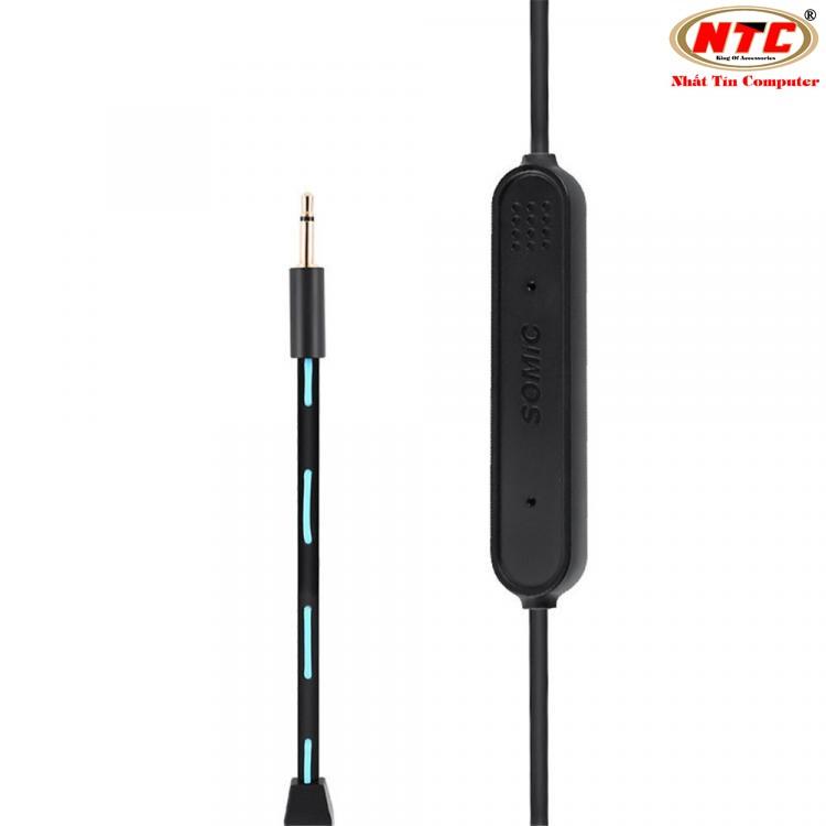 Tai nghe bluetooth chuyên game Somic G618 Pro - Tích hợp micro có thể tháo lắp (Xanh đen)