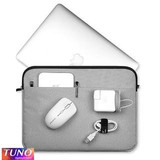 Túi chống sốc 2 ngăn, chất liệu chống nước, chống xước dùng cho máy tính 13, 15 inch