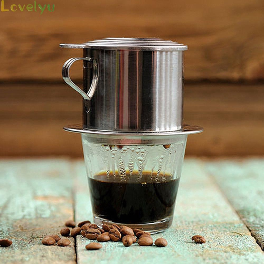Coffee Pot Tool Accessory 1PC Stainless Steel Vietnam Vietnamese 50/100ml Drip Filter Silver Infuser High Quality
