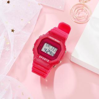 Simple Green Matcha Watch Unicorn Small Fresh College Style Electronic Watch Ins Waterproof Sports Watch YUES