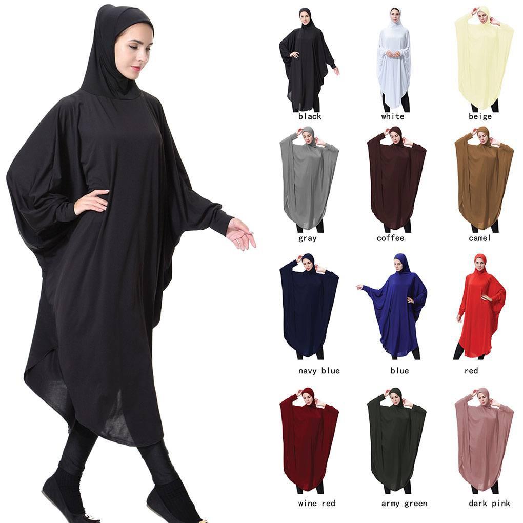 Áo choàng lụa dài tay phong cách Hồi giáo cho nữ