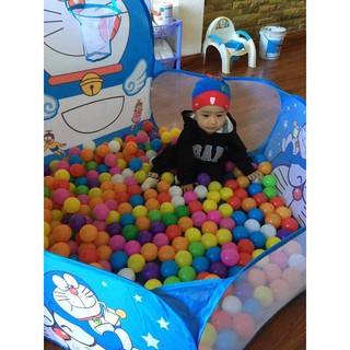 Yêu ThíchLều bóng Đôremon, Kitty, Hươu tặng kèm 100 quả bóng mềm cho bé