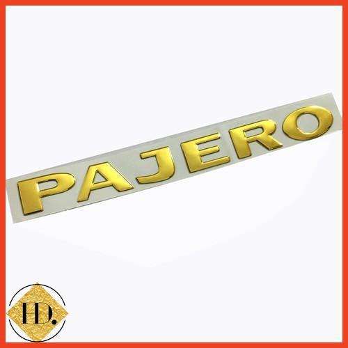 [SP MỚI] Tem Logo Nổi PAJERO Dán Trang Trí Đuôi Xe Volcano shop
