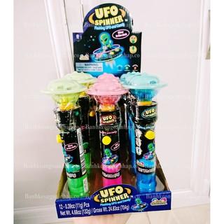 Kẹo Mút Đồ Chơi Con Quay Phát Đèn UFO Spinner Flashing UFO And Candy