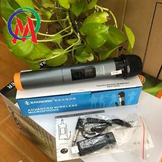 Micro Karaoke không dây đa năng Zansong V12 màn hình LCD (đen) - Hỗ trợ jack cắm 3.5mm và 6.5mm