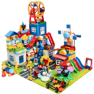 BILEGOX Lego Duplo FEELO158 Cối xay gió 158 khối kèm 3 tấm nền NLG0038-6