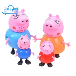 Peppa pig George guinea pig Family Pack Dad Mom 4pcs/set Action Figure Original Pelucia Anime