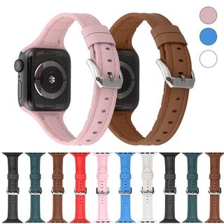 Dây Đeo Bằng Da Cho Đồng Hồ Thông Minh Apple Watch 6 Se 5 4 3 2 Iwatch 6 5 4 3 2