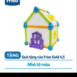 Bộ nhà lắp ghép và tô màu Friso.