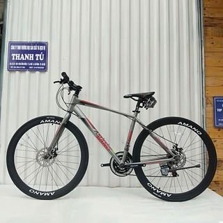 xe đạp đường phố AMANO AT100 2021 khung nhôm đạp nhẹ thumbnail