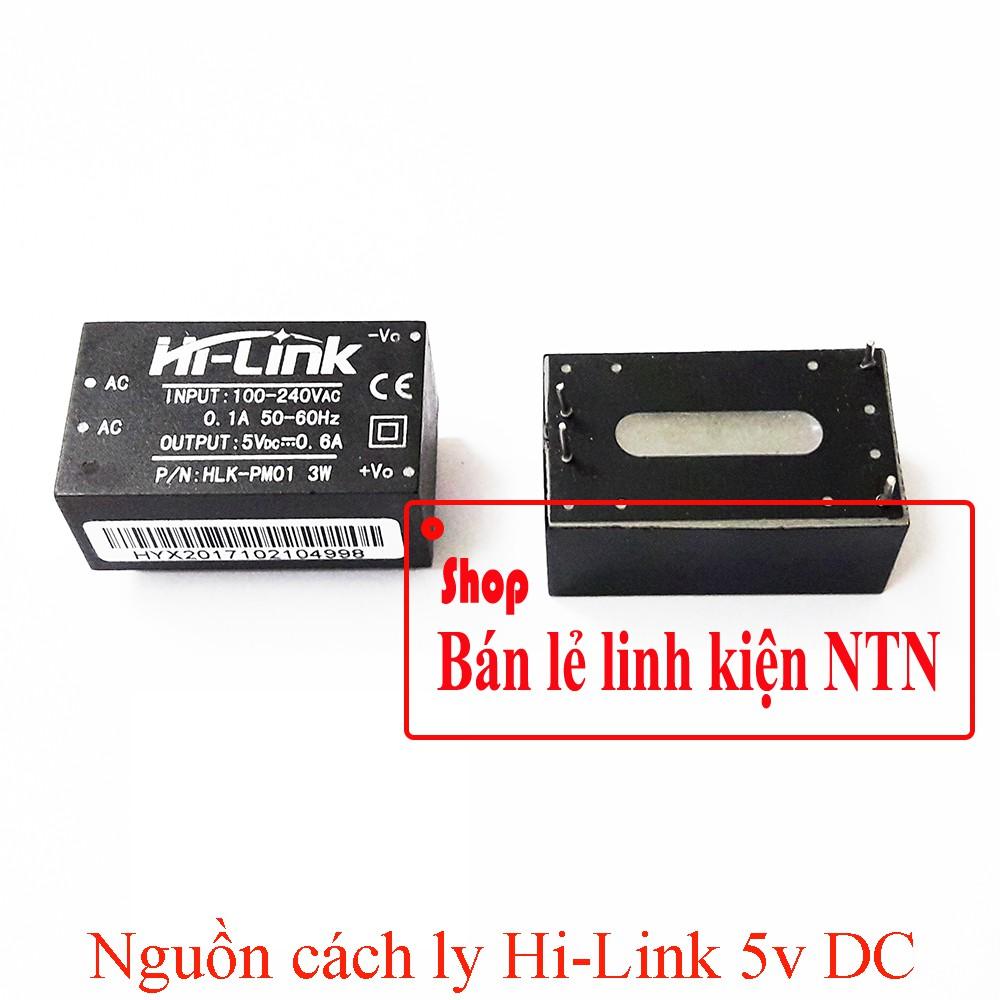 Bộ nguồn cách ly Hi link đầu vào 220v AC đầu ra 5v DC 600 mA