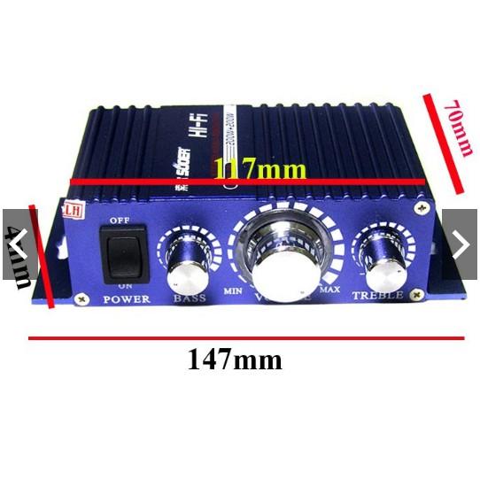 Âm ly SON-7227 Hi-Fi (Vỏ Nhôm 12V - Load 2 ôm đến 16 ôm)