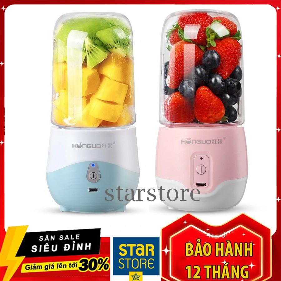 Máy xay cầm tay mini Hugo xay sinh tố xay trái cây đồ ăn dặm cho bé sạc pin tích điện dễ sử dụng