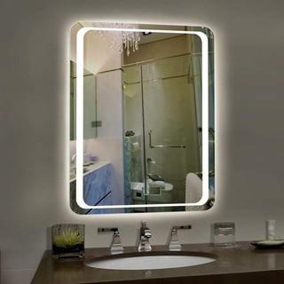 Gương Chữ Nhật 50x70cm Viền Led Cảm Ứng Hiện Đại, Gương Phòng Tắm, Gương Trang Trí Nhà Cửa thumbnail