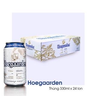 Thùng Bia Hoegaarden white 330ml x24 Lon/ Chai Bia lúa mỳ bán chạy nhất Bỉ | Chính Hãng