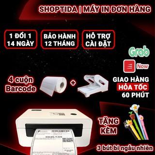 Máy in nhiệt Shoptida SP46 in đơn hàng TMĐT kèm khay và 4 cuộn tem in nhiệt decal 35x22mm in tem barcode, minicode thumbnail