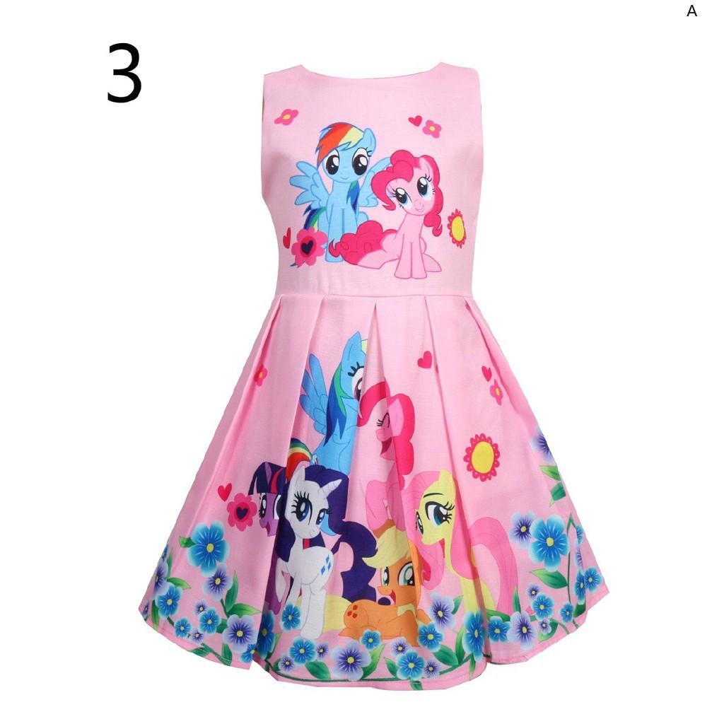 Đầm dài không tay in hình ngựa Pony xinh xắn cho bé gái