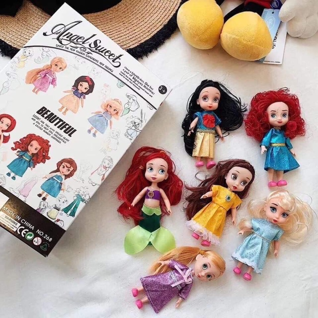 Set 6 Búp bê công chúa 隆♀️