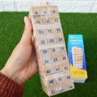 Bộ đồ chơi rút gỗ Wiss Toy 54 thanh cho bé (5 cm x 5cm x 16.5cm)