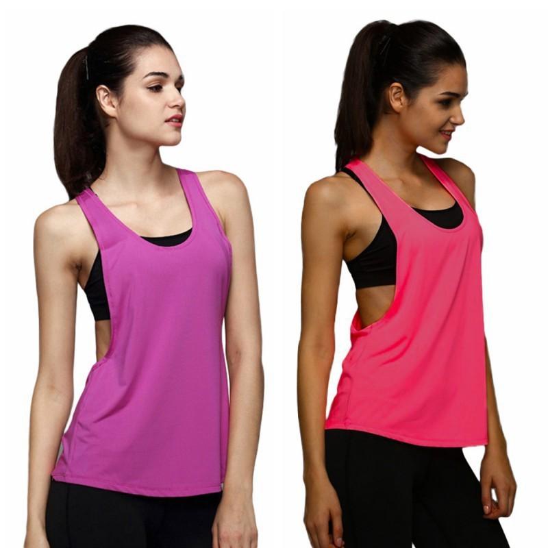 Áo ba lỗ thể thao màu trơn quyến rũ cho nữ