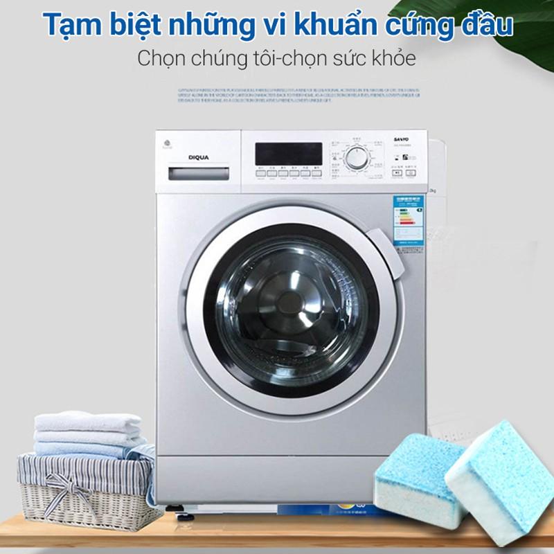 Hộp 12 Viên Tẩy Vệ Sinh Lồng Máy Giặt - Diệt Khuẩn - Tẩy Cặn Bẩn Máy Giặt