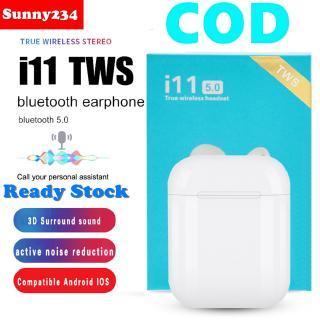 [COD] [COD]  i11 TWS Wireless Bluetooth 5.0 Earphone Stereo Headphone With Charging Box For Universal