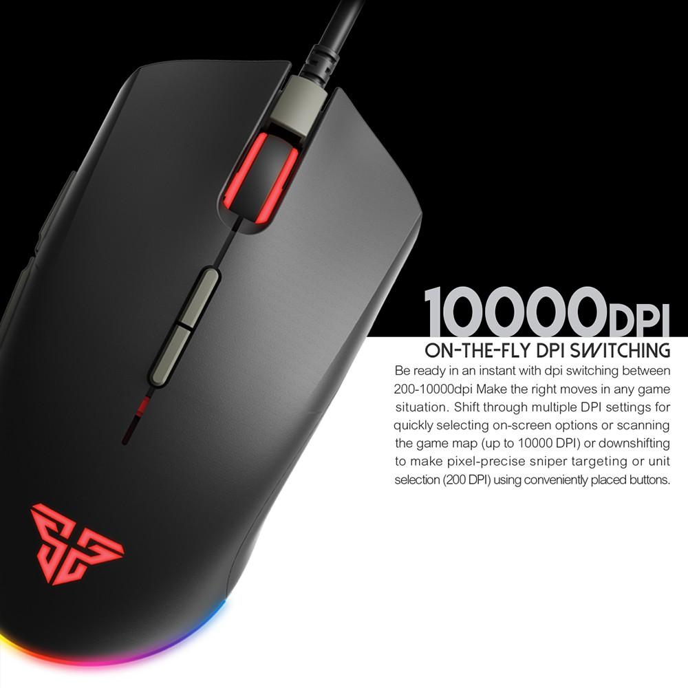 Chuột Gaming Có Dây FANTECH X17 BLAKE 10000 DPI LED RGB Chroma 16,8 Triệu Màu 7 Phím Macro Có Phần Mềm Tùy Chỉnh Riêng