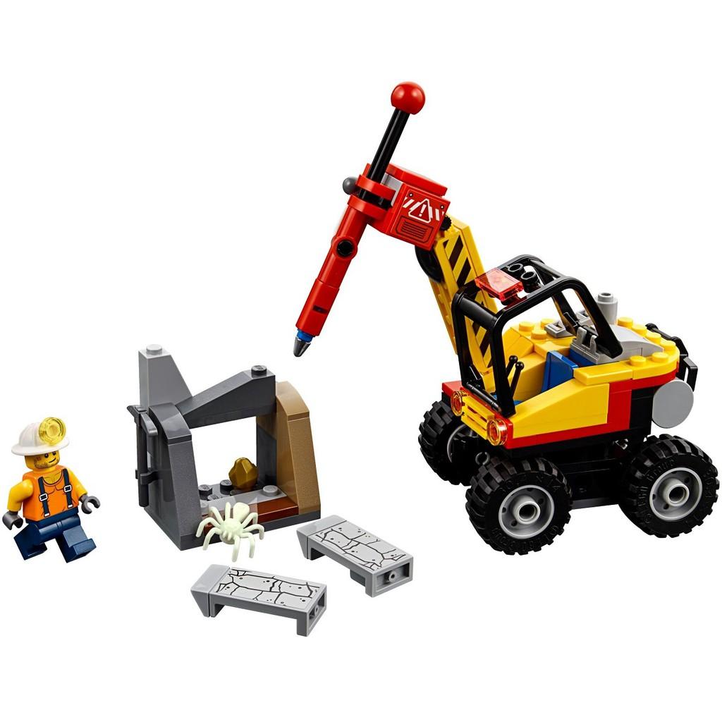 Bộ lắp ráp Máy Đục Đá - LEGO City 60185 (127 Chi Tiết)