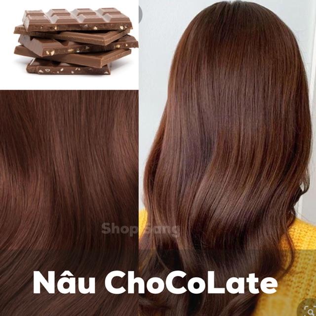 Thuốc Nhuộm Nâu Sô Cô La/ Chocolate +kèm trợ dưỡng
