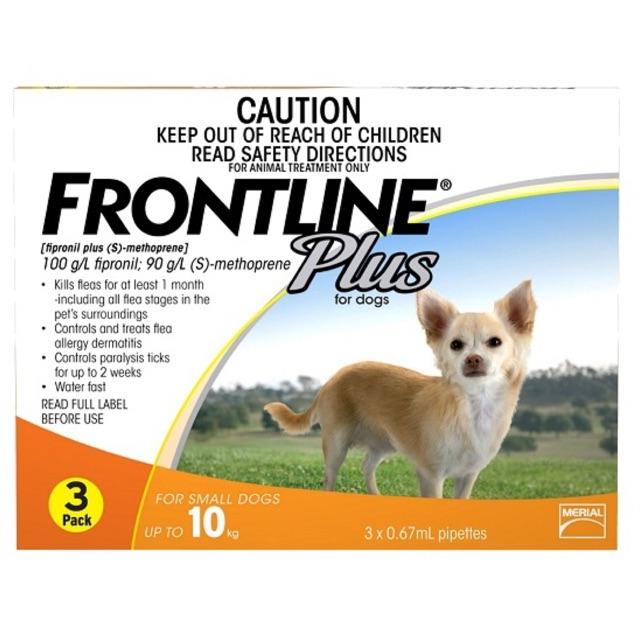 Nhỏ gáy Frontline cún nhỏ dưới 10kg( tuýp lẻ)