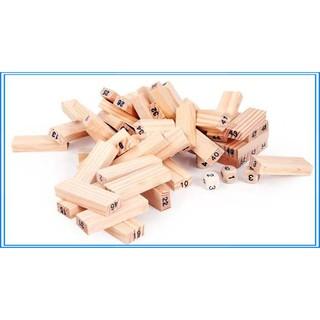 (KM Sốc) Bộ đồ chơi rút gỗ gồm 54 chi tiết sáng tạo cho trẻ