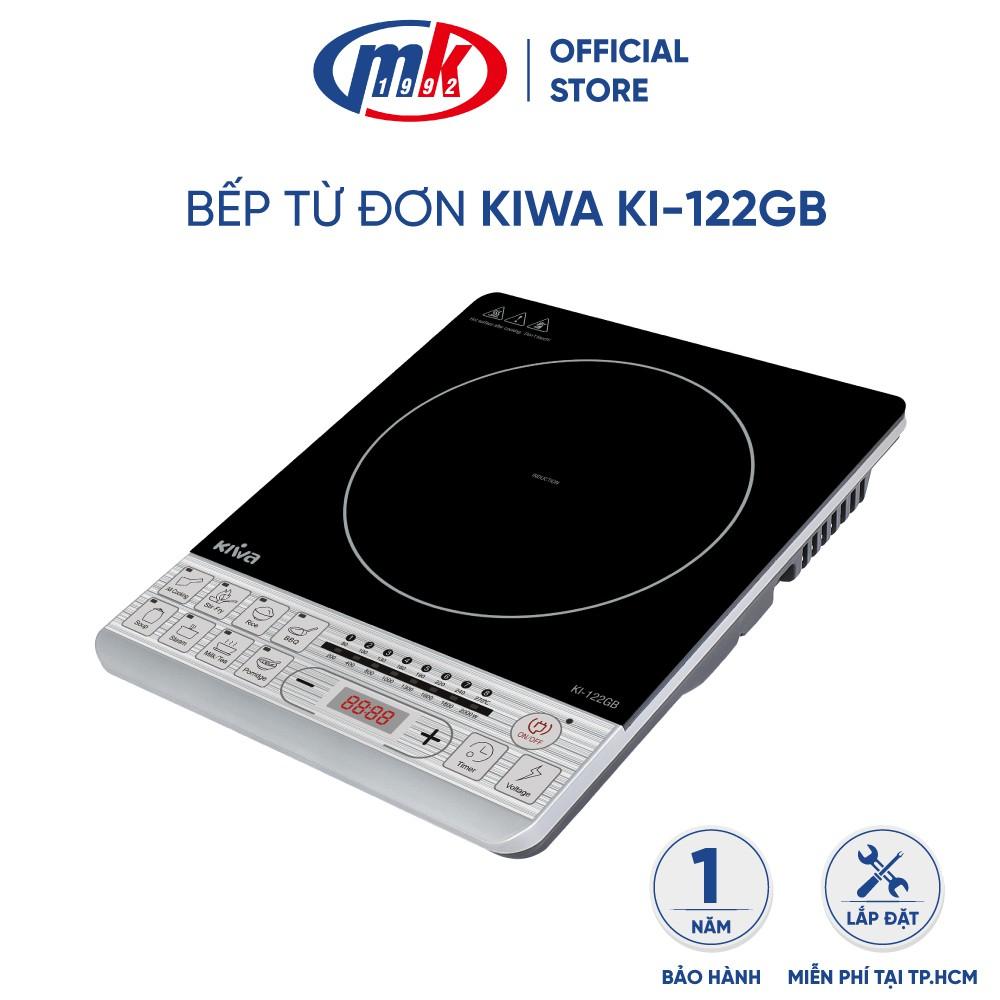 Bếp từ đơn Kiwa KI-122GB - Bếp điện từ mặt kính CERAMIC chịu nhiệt cao cấp - chính hãng Mekong