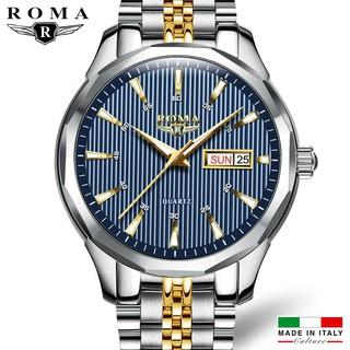 Đồng hồ Nam ROMA ITALY 9010 Kính tráng Sapphire Dây CHARM đúc đặt đẳng cấp thumbnail