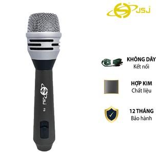 Micro karaoke có dây JSJ F8 vẻ ngoài quý phái thanh lịch, thiết kế hợp kim nhôm cao cấp, chống mài mòn