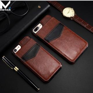 Bao da Iphone 6, 7, 8, Plus kiêm ví đựng tiền, thẻ, card rất tiện lợi MStar