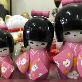 Bộ 3 Búp Bê Gỗ Kokeshi Nhật