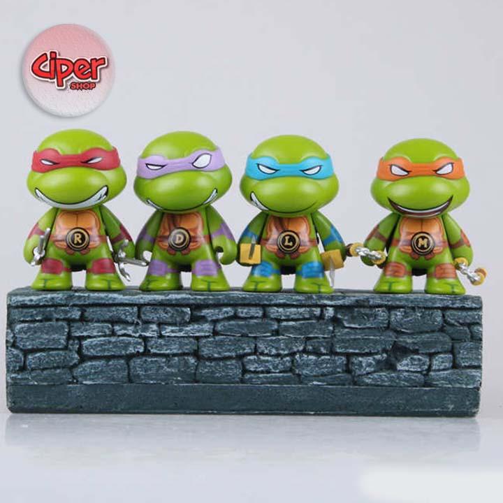 Bộ 4 mô hình Ninja rùa Chibi - Mô hình Ninja Rùa