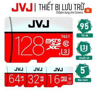 Thẻ nhớ 128Gb/64Gb/32Gb/16Gb JVJ Pro U3 Class 10–chuyên dụng cho CAMERA, Điện thoại, Máy ảnh,… tốc độ cao 95Mb-140Mb/s