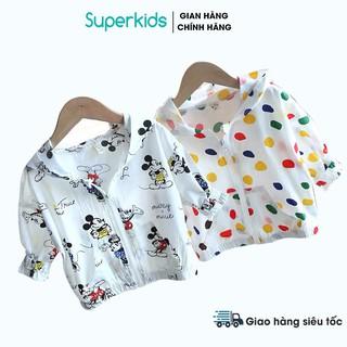 Áo chống nắng đũi họa tiết cho bé 8-25kg QATE609
