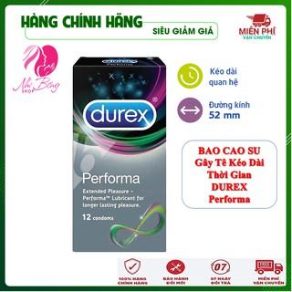 [Dùng Là Phê] Hộp 12 Chiếc Bao Cao Su gây tê kéo dài thời gian Durex Performa Thái Lan