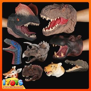 Găng tay khủng long, chó, gấu, sư tử, hươu… 20cm, ngộ nghĩnh cho các bé vui đùa. ITOYS đồ chơi trẻ em