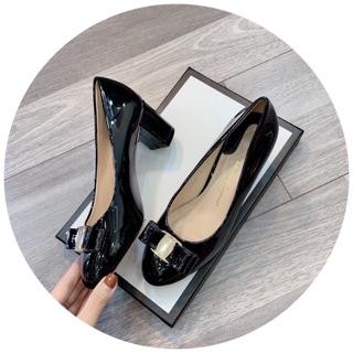 Giày búp bê cao gót 6cm đủ màu có hộp
