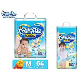 [Tặng 1 tã quần Mamy Poko L28] Tã quần Mamy Poko M64 L52 Bé Trai